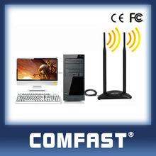 wireless usb network adapter double 6dBi Antenna support window 7/Vista/XP/Linux/Mac COMFAST CF-WU7300ND