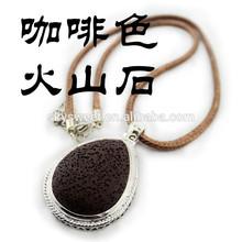 lava stone necklace, man cool leather plain pendant necklace