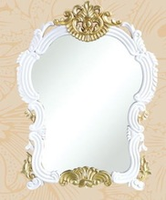 SJ-9182-2 white hair station wall mirror