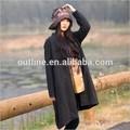 Nouvelle arrivée simple mode tie dye plaine, occasionnelsprix 100% maxi coton manteau femme modèle