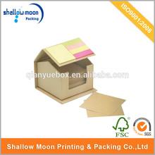 Customized cute handmade house shape gift box,paper box type house designs