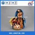 9.8 polegadas ofícios da resina religiosa santo estatueta família