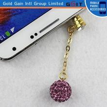 Romantic Crystal Ear Cap Dust Plug for Samsung Note 4