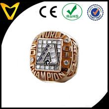 Stainless Steel Men's Large Stone Ring/MLB Diamondbacks 2001 World Series Ring