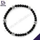 Profound black beads silver nickel free christian bracelets