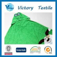 Super Soft Cotton Terry Towel Animal Hood Blanket