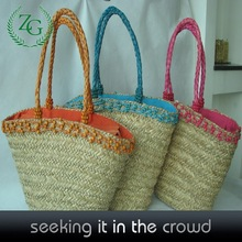 Modern hot sell crochet straw tote bag