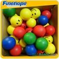 مبتسم وجه الكرة الإجهاد بو البولي يوريثين رغوة لينة لعبة الكرة مكافحة الإجهاد النرد مكعب تخصيص الشركة المصنعة oem