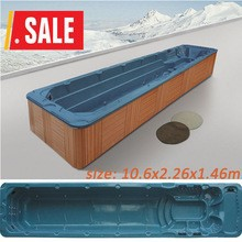 Monalisa 10 Meter Oceanside Acrylic Outdoor Swimming SPA Hot Tubs Square Massage Bathtub Whirlpools M-3326