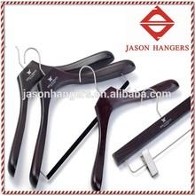 DL0913 Luxury custom mahogany wooden customized coat hangers