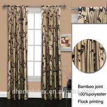 Cortina de ventana de decoración para el hogar bambú conjunta con 100% de poliéster