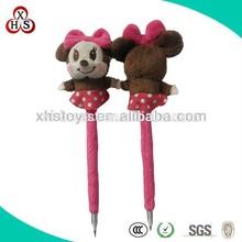 2015 Promotional Gift Cute plush animal shape ballpoint pen for sale