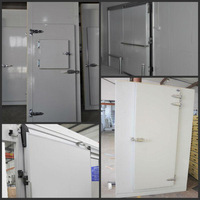 PUR panel hinged freezer door with double-leafed for cold room