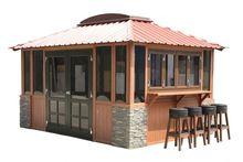Hexagonal gazebo thatch roof/ gazebo/ canopy/ instant tent/ pop up gazebo