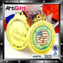 OEM and ODM gold 10k running medal