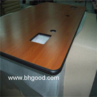 formica wood table top; solid phenolic table top; hpl table