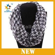 Hot sale lady's fashion stripe tube scarf