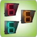 Um dígito Road LED metro contagem regressiva tráfego indicar o sinal