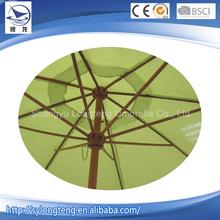 Multicolor 140G polyester 8 steel ribs dourble green garden umbrella,umbrella patio pole