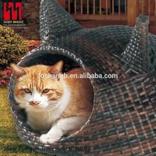 Cute pet house rattan pet house outdoor/indoor pet cage