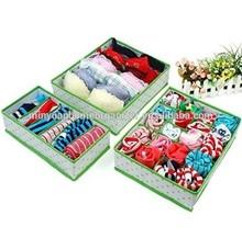 Foldable 3 Piece Dresser Drawer Storage Box Closet Divider Set