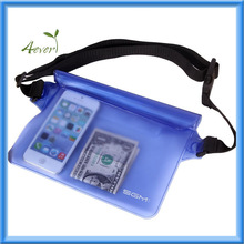 Waterproof Pouch with Waist Strap for Beach/fishing/hiking - Protects Phones, Camera, Cash, Documents From Water, Sand,