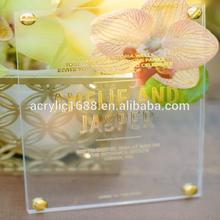 Pop OEM Acrylic 2014-2015 Luxury Wedding Invitation Cards Wholesale