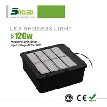 alibaba wholesale UL DLC 120w led shoebox light /retrofit kits Mean Well driver IP65 product line