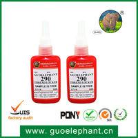 290 Medium Strength threadlocking adhesives,peel off adhesive glue