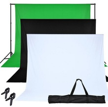Mouse over image to zoom Chroma-Key-Green-Screen-with-Black-and-White-Backdrop-stand-Kit-Photography-Set