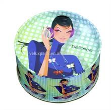 Round tin box for CD packaging/metal CD case/Round tin box