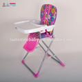 Não- tóxico confortável plástico baby cadeira alta com cinto de segurança
