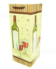 wine bottle paper bag by 210 grams of white paper 2014