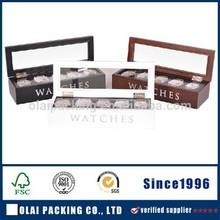 slim 5 slots clear top wooden watch packaging
