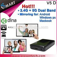 Visson Tech 2014 Hot Product Miracast+Airplay+MirrorOp Vsmart V5D Support Fluent HD 1080P Porn Video