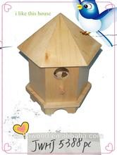 cheap handmade wood material wooden bird house