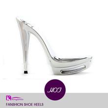 China supplier silver Simple 13.5cm fashion high shoe