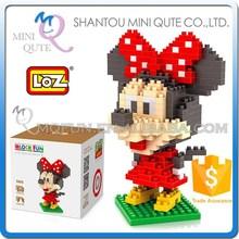 Mini Qute Big Head Mouse loz diamond nano block plastic cube building blocks educational toy 3d diy building puzzle NO.9414