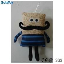 custom plush instant noodle man sublimation printing doll
