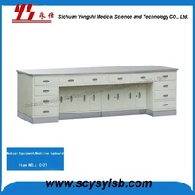Hospital furniture Steel Work Bench/table with stainless steel top and base