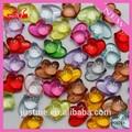 Color mezclado de acrílico transparente de doble corazón colgante de accesorios aptos DIY jewelry making P00261