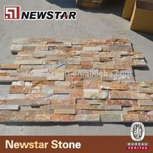 rusty cladding slate,yellow ledgestone veneer panels,natural cultural stone