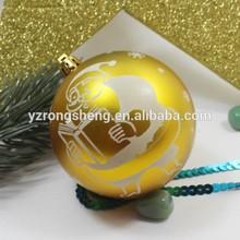 wholesale customized plastic christmas ball hanger decoration
