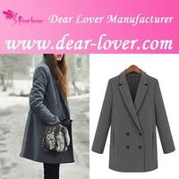 ladies wool European style Long maxi coats women winter fashion material clothing