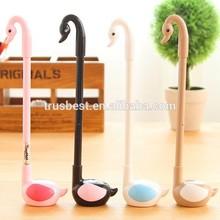Plastic Swan gel Pens Kawaii Stationery Cute Caneta Girl Kids Favor Novelty Gift Cute School Supplies W60