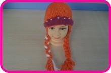 2014 baby winter 100%cotton caps and crochet baby frozen hats