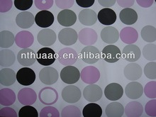 colorful round dots plastic pvc embossing printed sheets for table cover