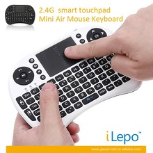 2.4G Smart Touch Pad Mini Wireless 92 Keys Air Mouse Keyboard USB 2.0