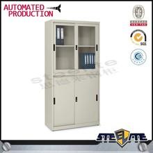 glass and steel door strong office bookshelf steel cupboard/office furniture professional