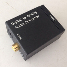 TOP-Digital01 digital to analog audio converter,Digital Fiber ptical Coaxial Toslink to Analog RCA L/R Audio Converter Adapter